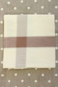 Tea towel to embroider with 6.5 Aida Ecru/Brown