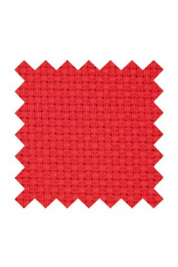 5.5 count Aida fabric 50 x 80cm swatch Cotton - Red