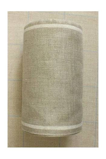 Linen band to embroider Width 20cm - by the metre - ecru border