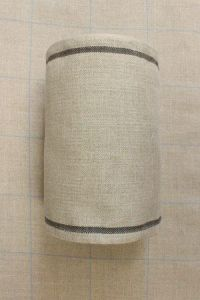 Linen band to embroider Width 20cm - by the metre - black border