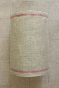 Linen band to embroider Width 20cm - by the metre - pink border