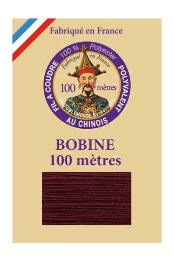 Polyester sewing thread - 100m spool - n° 450 - Aubergine