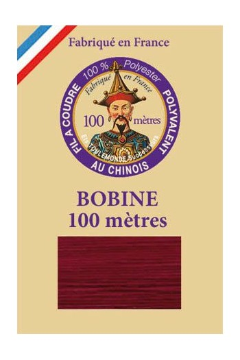 Polyester sewing thread - 100m spool - n° 703 - Burgundy
