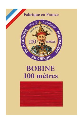 Polyester sewing thread - 100m spool - n°370 - Red