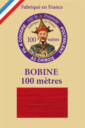 Polyester sewing thread - 100 m spool - n° 370 - Red