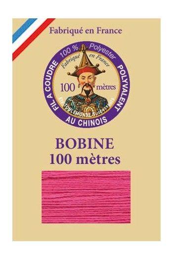 Fil à coudre polyester bobine 100 m Col. 148 - Rose indien