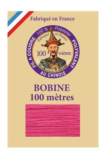 Polyester sewing thread - 100m spool - n°148 - Indian rose