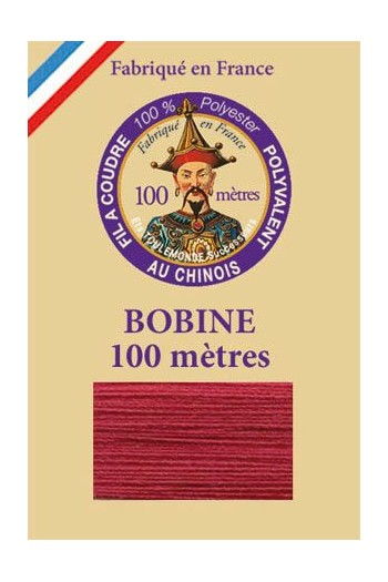 Polyester sewing thread - 100m spool - n°506 - Raspberry