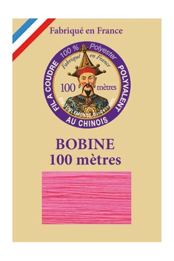 Polyester sewing thread - 100m spool - n°997 - Neon pink