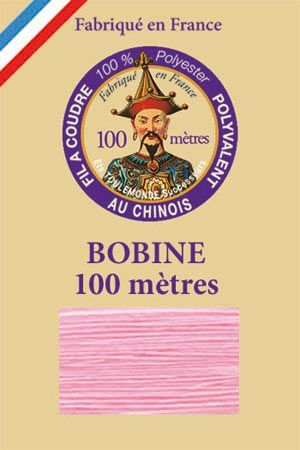 Polyester sewing thread - 100 m spool - n° 377 - Pink