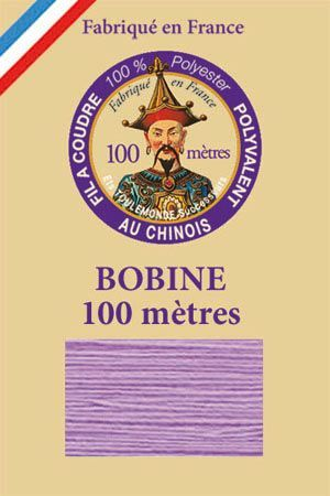 Polyester sewing thread - 100 m spool - n° 515 - Lilac