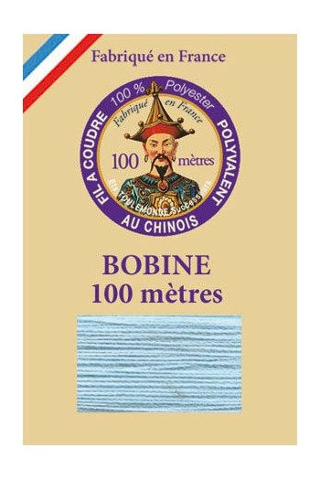 Polyester sewing thread - 100m spool - n°740 - Azure