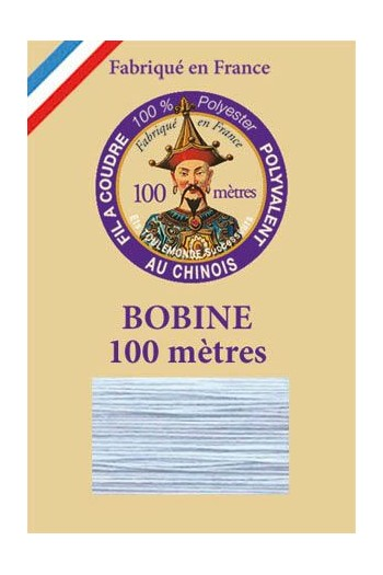 Polyester sewing thread - 100m spool - n°039 - Iceburg