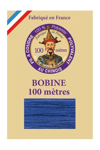 Polyester sewing thread - 100m spool - n°680 - Gauloise blue