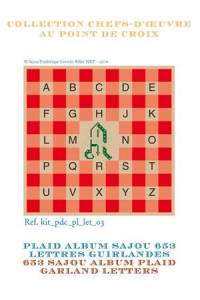 Sajou Alphabet plaid to embroider garland letters