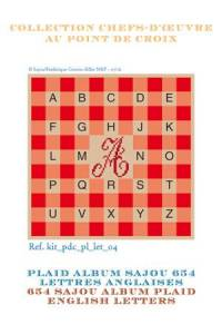 Sajou Alphabet plaid to embroider English letters