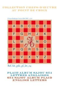 Alphabet plaid to embroider English letters