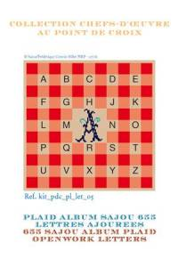 Sajou Alphabet plaid to embroider openwork letters