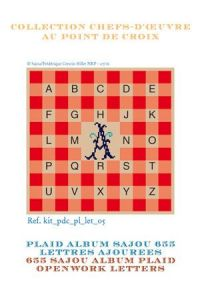 Alphabet plaid to embroider openwork letters