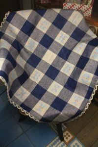 Alphabet plaid to embroider Gothic letters
