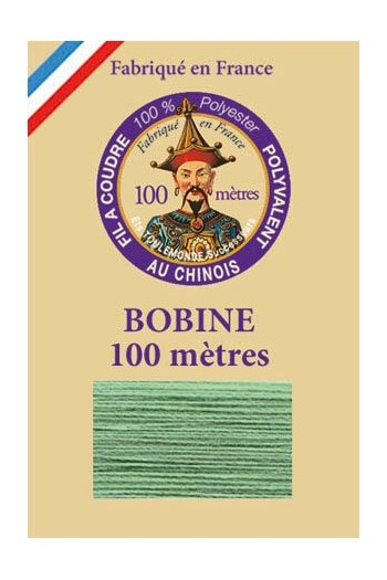 Polyester sewing thread - 100m spool - n°800 - Mint