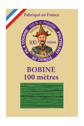 Fil à coudre polyester bobine 100 m Col. 810 - Gazon