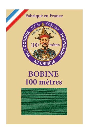 Polyester sewing thread - 100m spool - n°862 - Vert