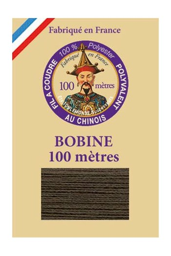Polyester sewing thread - 100m spool - n°908 - Cast iron