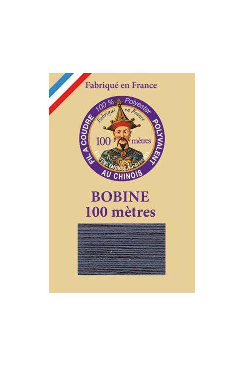 Universalgarn Polyester 100 Meter Spule - 140 – Blaugrau