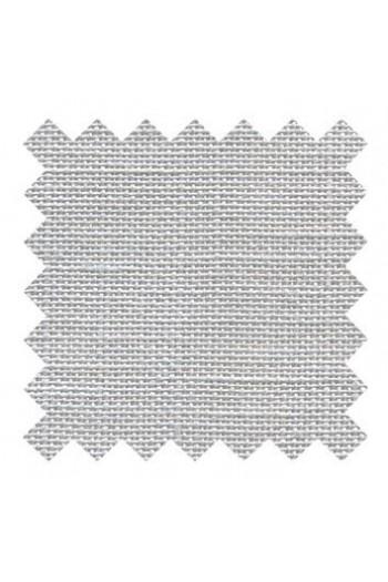Lin à broder 12 fils au cm carré 14 x 14 cm Gris perle