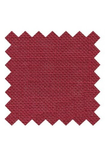 32 count linen to embroider 14 X 14cm square  - Col. Cherry