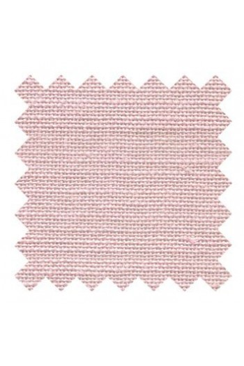 32 count linen to embroider 14 X 14cm square - Col. Pink