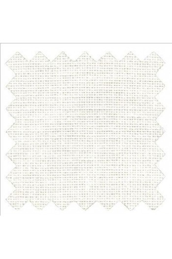 32 count linen to embroider 14 X 14cm square  - Col.  White