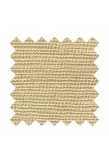 32 count linen to embroider 14 X 14cm square - Col. Tea