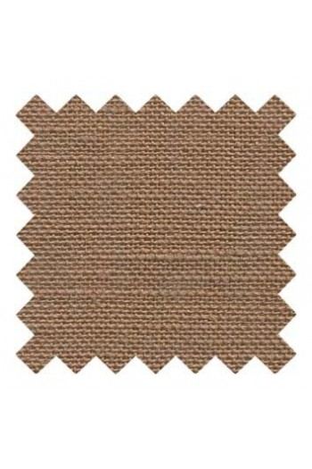 32 count linen to embroider 14 X 14cm square - Col. Bark