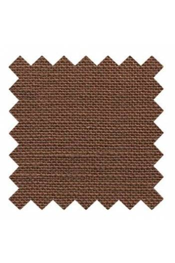 32 count linen to embroider 14 X 14cm square - Col. Brown