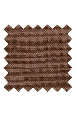 32 count linen to embroider 14 x 14cm - Brown
