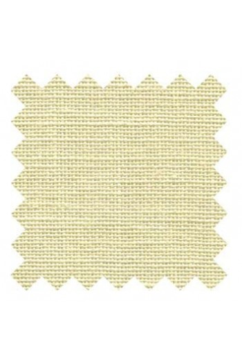 32 count linen to embroider 14 X 14cm square - Col. Pale yellow