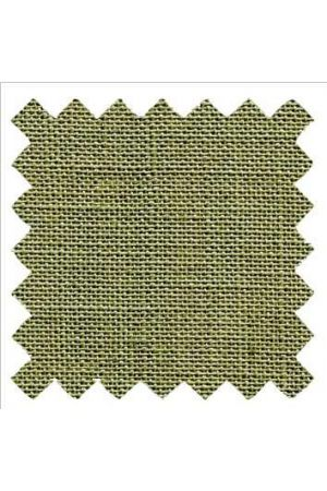 32 count linen to embroider 14 x 14cm - Moss
