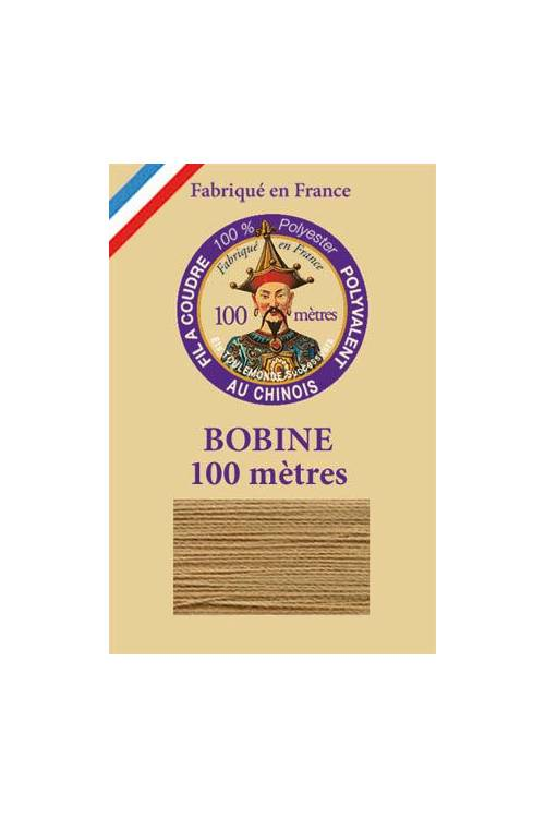 Fil à coudre polyester bobine 100 m Col. 596 - Biscuit