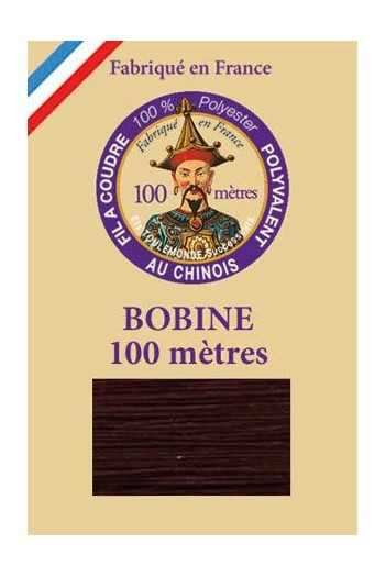 Polyester sewing thread - 100m spool - n°698 - Chocolate