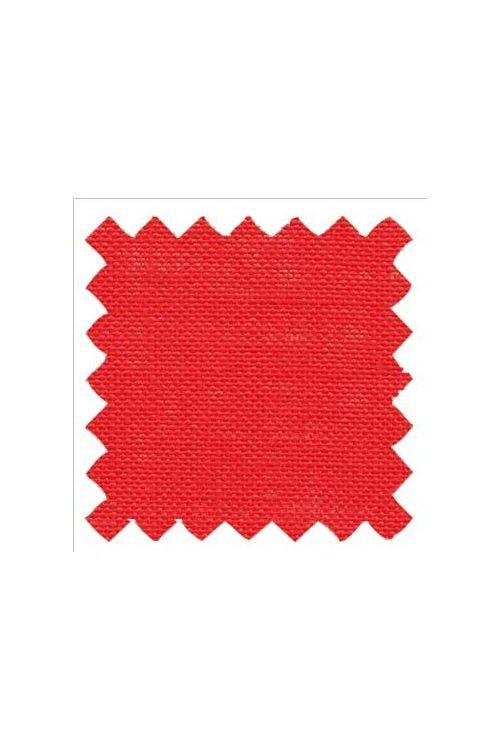 Stickleinen 12-fädig Stoffzuschnitt 50 x 70 cm Zinnoberrot