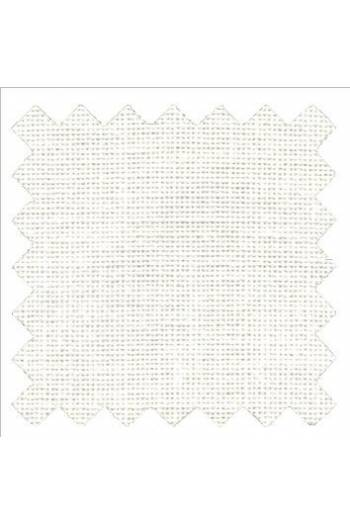 32 count linen to embroider 50 x 70cm swatch - Col. White