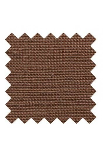 Lin à broder 12 fils au cm Coupon 50 x 70 cm Coloris Marron