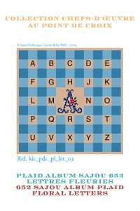 Alphabet plaid to embroider floral letters