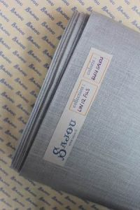 12 threads per cm Embroidery linen Colour Sajou Blue