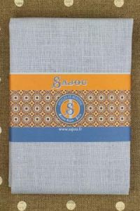 32 count linen to embroider 70 x 70cm swatch - Col. Sajou blue