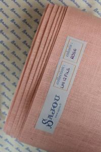 12 threads per cm Embroidery linen Colour  Pink