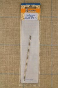 Two Sajou mattress needles N°5, straight length 125mm with a diametre of 2mm