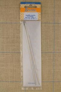 Two Sajou mattress needles N°8, length 200mm, diametre 2mm